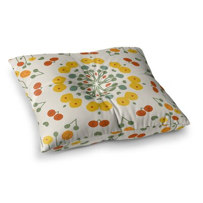 Laura Nicholson Ranunculas Floral Square Floor Pillow Size: 23 x 23