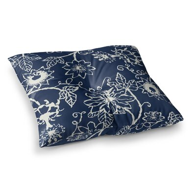 Laura Nicholson Passion Flower Floral Square Floor Pillow Size: 26 x 26