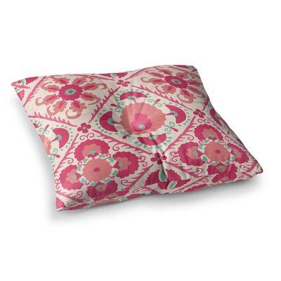 Laura Nicholson Bukhara Floral Square Floor Pillow Size: 23 x 23