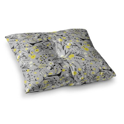 Laura Nicholson Blackbirds Square Floor Pillow Size: 23 x 23