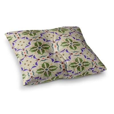Laura Nicholson Kissing Budgies Geometric Square Floor Pillow Size: 23 x 23