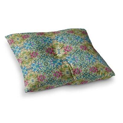 Laura Nicholson Prairie Dazzler Floral Square Floor Pillow Size: 26 x 26