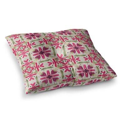 Laura Nicholson Echinacea Garden Geometric Square Floor Pillow Size: 23 x 23
