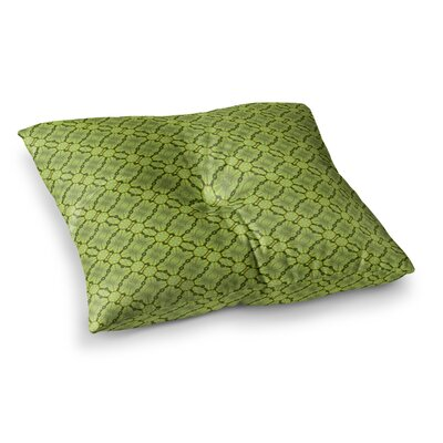 Laura Nicholson Leafy Lozenges Square Floor Pillow Size: 26 x 26