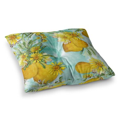 Liz Perez Sunny Day Floral Square Floor Pillow Size: 26 x 26