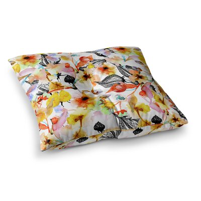 Liz Perez Blossoms Floral Square Floor Pillow Size: 26 x 26