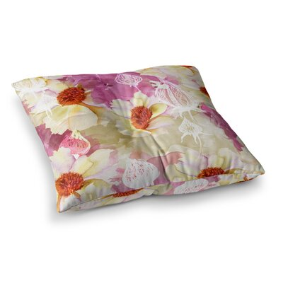 Liz Perez Sweet Florist Square Floor Pillow Size: 26 x 26