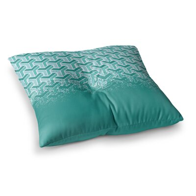 Just L No Yard Square Floor Pillow Size: 26 x 26, Color: Blue