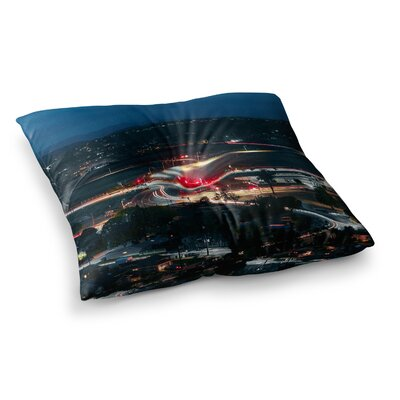 Just L Chasing Lights Square Floor Pillow Size: 23 x 23
