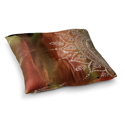 Li Zamperini Mandala Abstract Square Floor Pillow Size: 23 x 23, Color: Brown