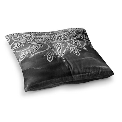 Li Zamperini Mandala Abstract Square Floor Pillow Size: 26 x 26, Color: Black
