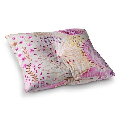 Li Zamperini Delicada Tan Square Floor Pillow Size: 26 x 26