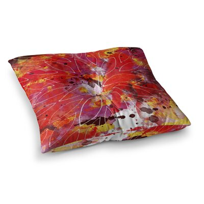 Li Zamperini Flame Square Floor Pillow Size: 23 x 23