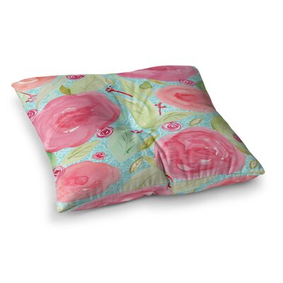 Li Zamperini Spring Floral Square Floor Pillow Size: 26 x 26
