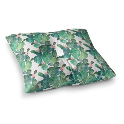 Li Zamperini Cactus Teal Square Floor Pillow Size: 23 x 23