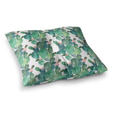 Li Zamperini Cactus Teal Square Floor Pillow Size: 26 x 26