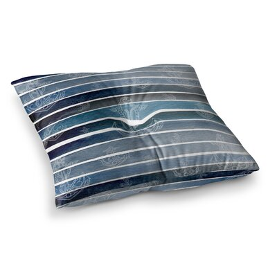 Li Zamperini Marine II Watercolor Square Floor Pillow Size: 26 x 26