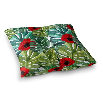 Li Zamperini Tropical Vibes Square Floor Pillow Size: 23 x 23
