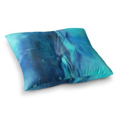 Li Zamperini Deep Sea II Teal Square Floor Pillow Size: 26 x 26