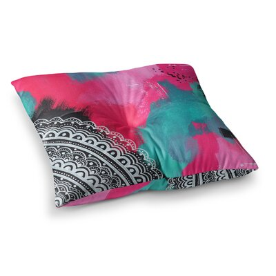 Li Zamperini Changes II Teal Illustration Square Floor Pillow Size: 26 x 26