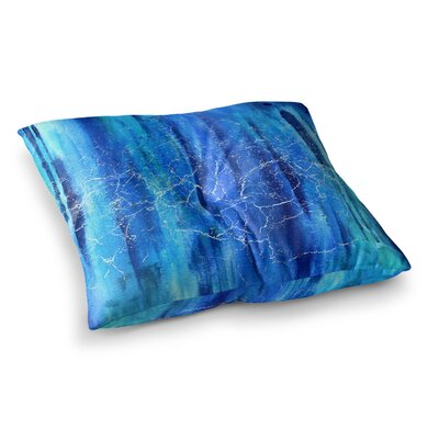 Li Zamperini Ocean Painting Square Floor Pillow Size: 26 x 26