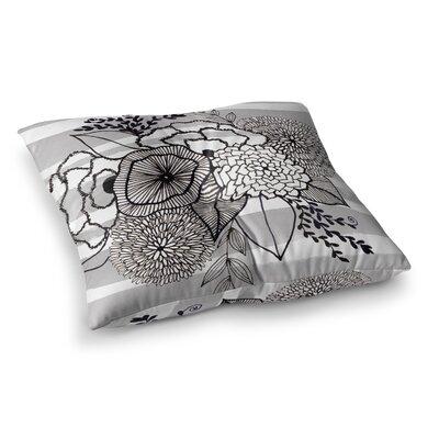 Li Zamperini Doodle BW Illustration Square Floor Pillow Size: 23 x 23