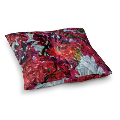 Mary Bateman Bougainvillea Square Floor Pillow Size: 26 x 26