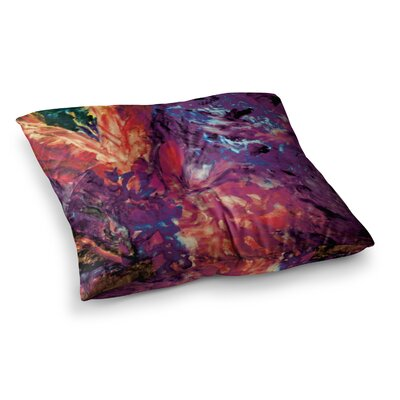 Mary Bateman Passion Flowers Square Floor Pillow Size: 23 x 23, Color: Purple/Red
