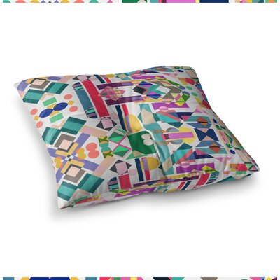 Mareike Boehmer Geometry 2B Abstract Square Floor Pillow Size: 23 x 23