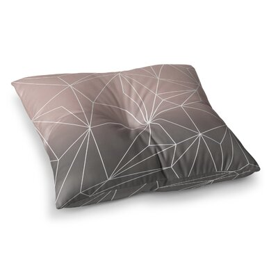 Mareike Boehmer Simplicity Square Floor Pillow Size: 23 x 23, Color: Brown