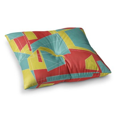 MaJoBV Cartagena Walls l Geometric Square Floor Pillow Size: 26 x 26