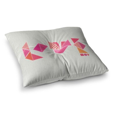 MaJoBV Stitched Love Geometric Square Floor Pillow Size: 26 x 26