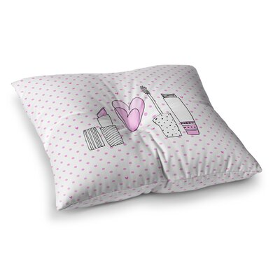 MaJoBV Girls Luv Makeup Square Floor Pillow Size: 23 x 23