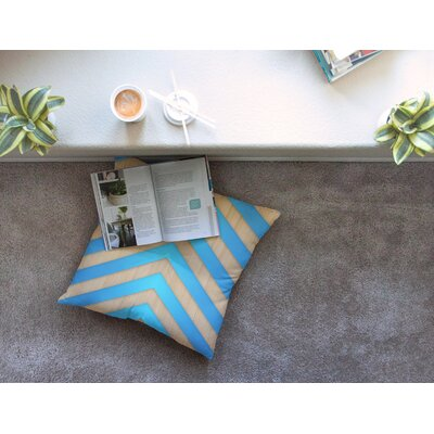 Marta Olga Klara Chevron Square Floor Pillow Size: 26 x 26