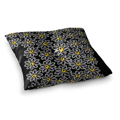 Maria Bazarova Chamomile Floral Square Floor Pillow Size: 26 x 26