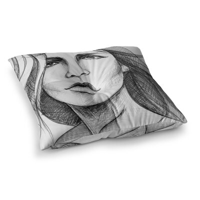 Maria Bazarova Fashion Woman People Square Floor Pillow Size: 26 x 26