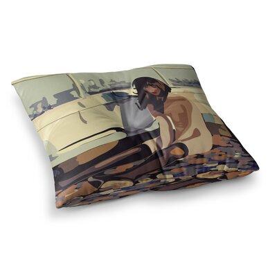 Maria Bazarova Loneliness People Square Floor Pillow Size: 23 x 23