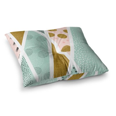 Mmartabc Abstract Marine Shapes Illustration Square Throw Pillow Size: 26 x 26