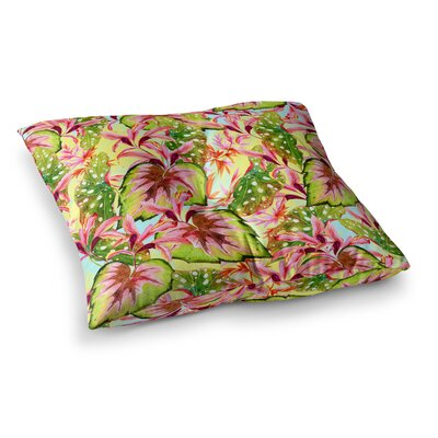 Mmartabc Exotic Botanical Pattern Illustration Square Throw Pillow Size: 23 x 23