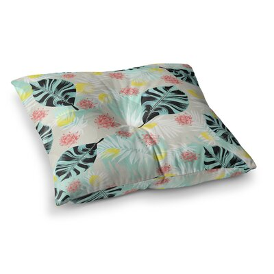 Mmartabc Tropical Plants Illustration Square Throw Pillow Size: 23 x 23