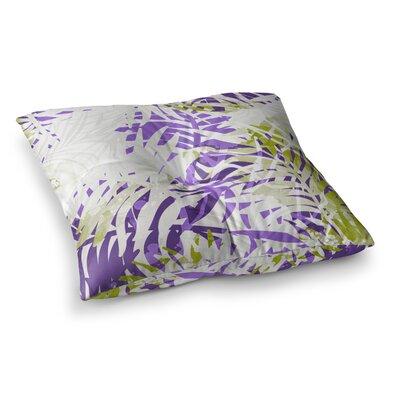 Mmartabc Leaves Vector Square Throw Pillow Size: 23 x 23