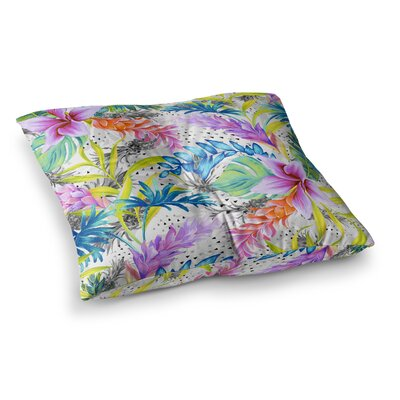 Mmartabc Exotic Pattern Illustration Square Throw Pillow Size: 23 x 23