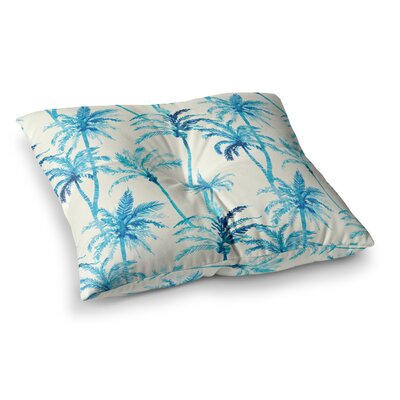Mmartabc Tropical Watercolor Palm Trees Illustration Square Throw Pillow Size: 23 x 23