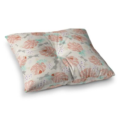 Mmartabc Pattern Tropical Beach Illustration Square Throw Pillow Size: 23 x 23