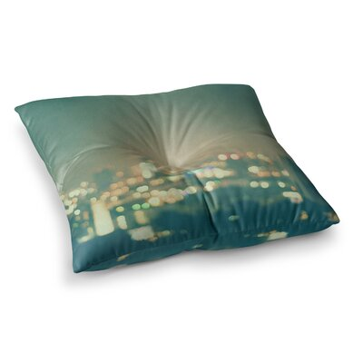 Myan Soffia Anniversary City Lights Square Floor Pillow Size: 26 x 26