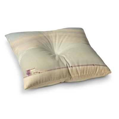 Myan Soffia Toffee Marshmallow Sandy Beach Square Floor Pillow Size: 26 x 26