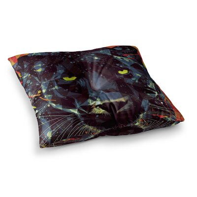 Mayka Ienova Le Noir Parduc Animals Square Floor Pillow Size: 26 x 26