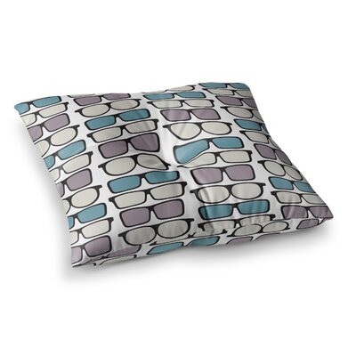 Michelle Drew Spectacles Geek Chic Square Floor Pillow Size: 26 x 26