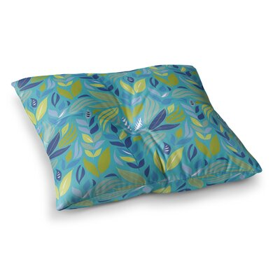 Michelle Drew Underwater Bouquet Square Floor Pillow Color: Light Blue, Size: 23 x 23