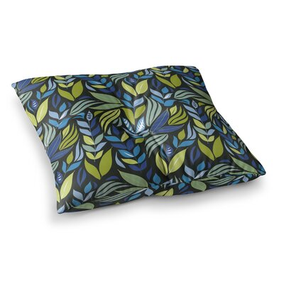 Michelle Drew Underwater Bouquet Square Floor Pillow Color: Blue, Size: 26 x 26